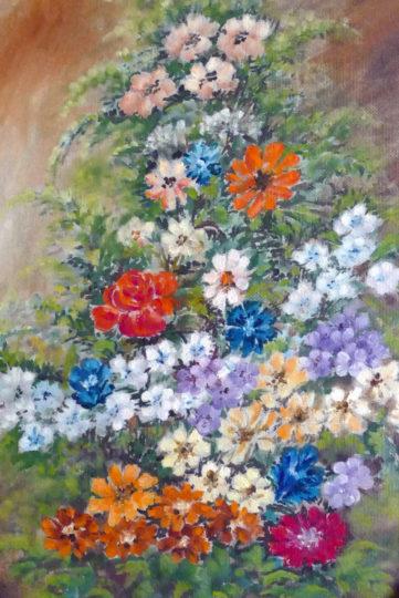 Fiori - Olio su tela, 1989