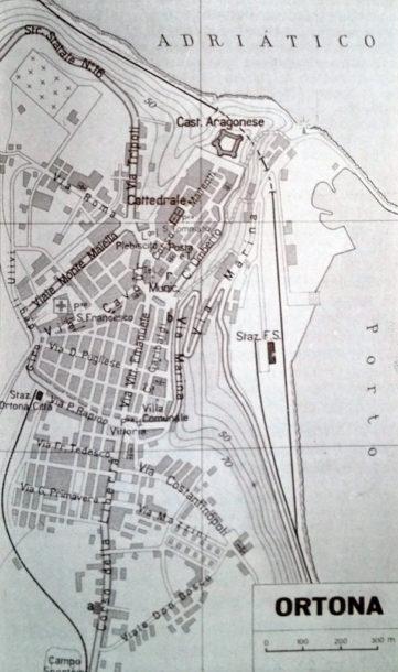 Ortona da G. Lalli - Cartografia, Planimetrie, 1961