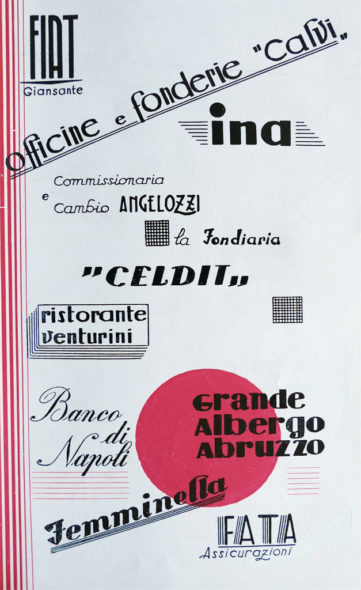 Pagina inserzionisti 1 - Grafica, Loghi, Lettering, 1954